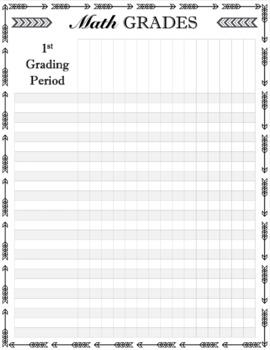 Arrows Theme Editable Gradebook