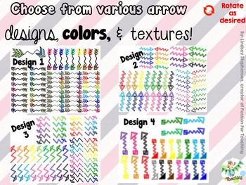 Arrows Variety Pack - Zig Zag {Passion For Teaching Digital Clipart}