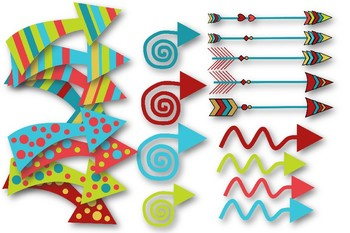 Arrows and Backgrounds Clip Art