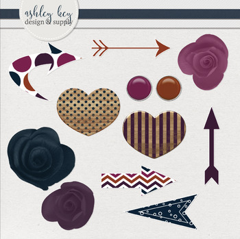 Arrows and Embellishments Clipart Bundle- Sunset Collection