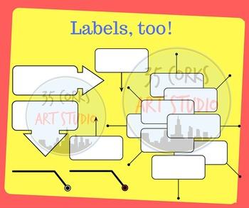 Arrows and Labels - Clip Art Set