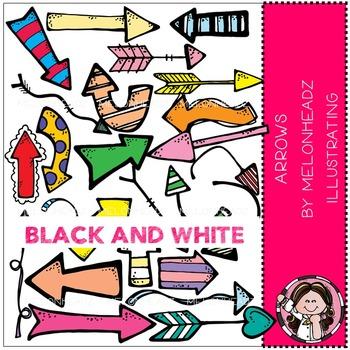 Melonheadz: Arrows clip art - BLACK AND WHITE