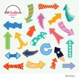 Arrows clipart, colorful arrows clipart, vector graphics CL023