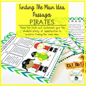 Finding the Main Idea Activities with Pirates.