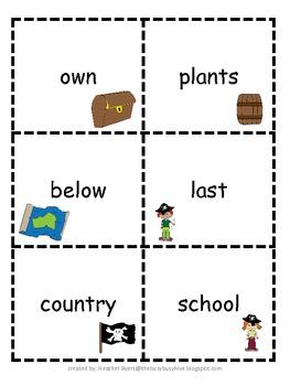Arrr, Treasured Sight Words! {Fry's third 100 words} Teacher Assessment Pack