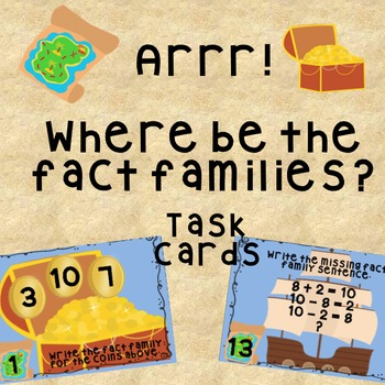 Arrr! Where be the fact families task cards
