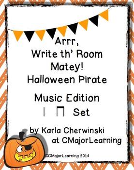 Arrr, Write th' Room Matey! Halloween Pirate Music Edition ta ti-ti Set
