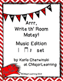 Arrr, Write th' Room Matey! Music Edition Rest Set