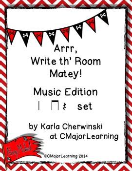 Arrr, Write th' Room Matey! Music Edition Rest Set