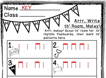 Arrr, Write th' Room Matey! Music Edition ta ti-ti Set