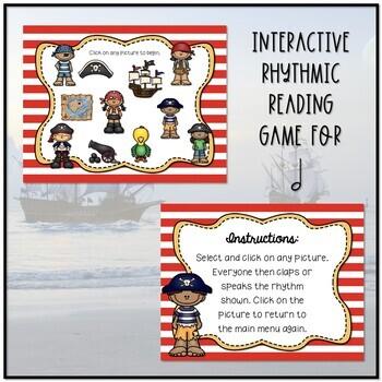 Arrrrgh You Ready for Some Pirate Rhythms? Game -Ta-a