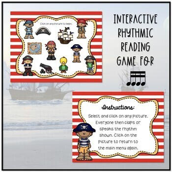 Arrrrgh You Ready for Some Pirate Rhythms? Game - Tika-tika