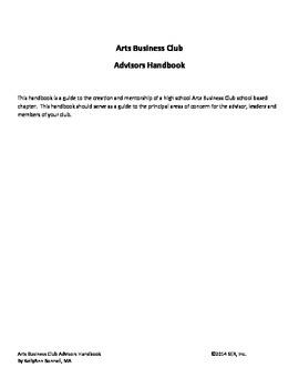 Arts Business Club Advisor's Handbook
