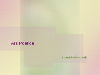 Ars Poetica in Pictures