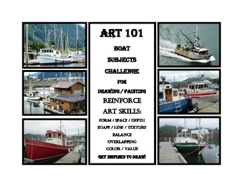 Art 101 Drawing and Painting Boat Subject Challenge