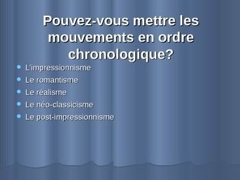 Art AP French Francais (Impressionnisme - realisme - roman
