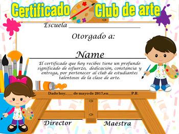 Art Achievement Award Complete Editable!!!! Spanish & Engl