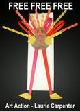 "THANKSGIVING ""Easy Art"" FREE Tall Turkey"