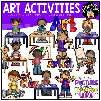 Art Activities Clip Art Bundle {Educlips Clipart}