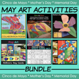 May Art Bundle - Cinco de Mayo Activities, Memorial Day & Mothers Day Crafts