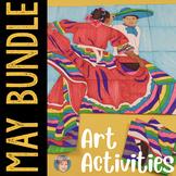 May Activities Art BUNDLE w/ Cinco de Mayo, Memorial Day & Mothers Day Crafts