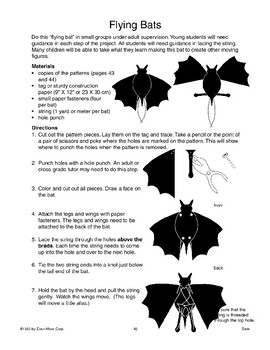 Art Activities and Games About Bats