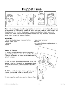 Art Activities to Use as Book Reports