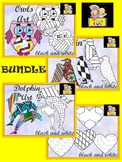 Coloring Activities - BUNDLE - Cut and Color {Save $5.00}