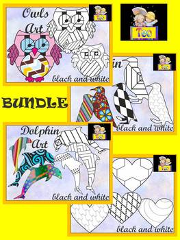 Coloring Activities - BUNDLE - Cut and Color {Save $4.00}