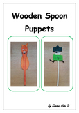 Art Activity Wooden Spoon Puppets.