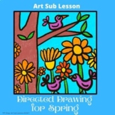 Art Sub Lesson Plans: Directed Drawing of Birds in a Tree,