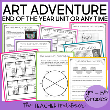End of the Year: Art Adventure Unit for 3rd - 5th Grade