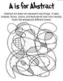 Art Alphabet Coloring Book
