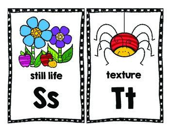 Art Alphabet Picture Cards