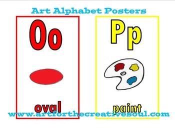 Art Alphabet Posters