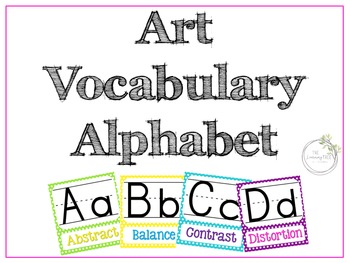 Art Alphabet Vocabulary Posters