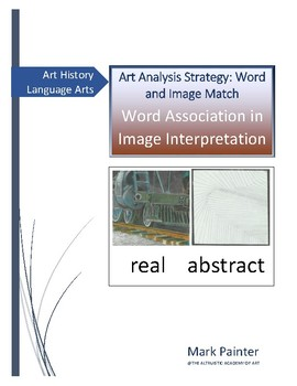 Art Analysis Strategy: Word Image Match Word Association in Image Interpretation