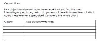 Art Analysis Worksheet