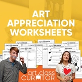 Art Appreciation Printable Worksheet Bundle - 20 Ready-to-Use Worksheets