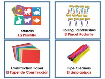 Art Area Labels in English and Spanish