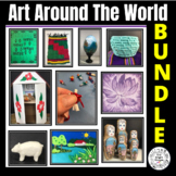 Art Around The World Art Lesson Bundle - Peru Russia Guate