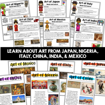 Art Around the World Common Core Aligned | Google Classroom Distance Learning