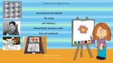 Art Around the World: No prep Art History Lessons with fun Projects