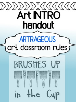Art - The First Day - Art Classroom Rules (for high school)