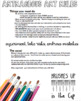 Art - Back to School - Art Classroom Rules (for high school)
