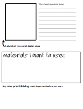 Art - Project Proposal Worksheet - GENERIC!