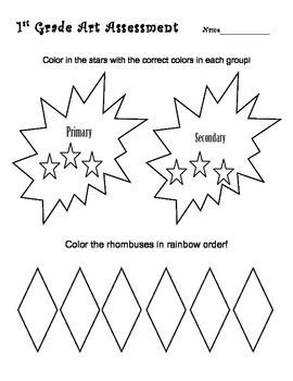 1st Grade Art Assessment