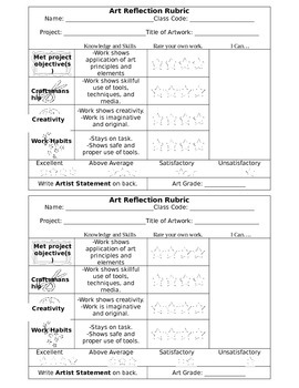 Art Assessment Rubric Updated for 2014