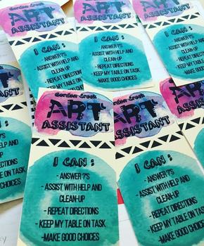 Art Assistant Badges (Table Leaders)