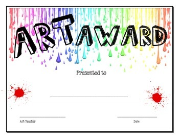 Art award by art shop teachers pay teachers art award yelopaper Choice Image